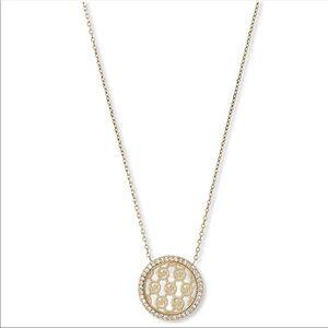 Michael Kors Rose Gold Pave logo necklace